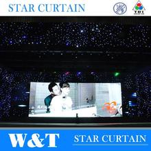 W&T tri color wholesale led curtains with high quality