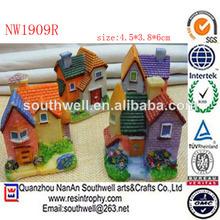 nuevo diseño en miniatura de la resina de jardín de la casa de hadas
