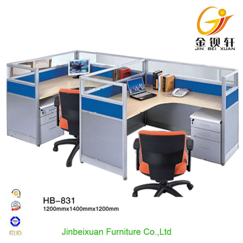 Office furniture computer desk for 2 person workstation - Computer desk for two people ...