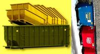 Dumpsters and waste equipment.