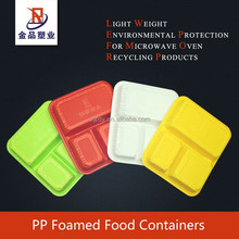 Disposable 3-Compartment plastic EPP Foam Food Container