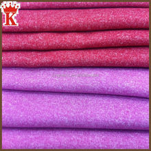 China supplier wholesale 4-way stretch lycra knitted cationic heather grey melange color cotton polyester spandex blend fabric