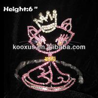Rhinestone Cat Baby Crowns