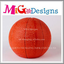 Wholesale Direct Factory Manufacture OEM Art Decor Gift Ceramic Basketball Coin Bank