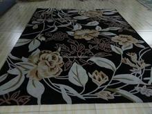 Luxury Classic Area Rug For Home Purple Handmade Crochet Rug For Living Room Bedroom