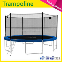 wholesale cheap 18ft 20ft outdoor gymnastic biggest trampoline with safety net