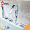 New design three handles 5 pieces bathtub faucet with hand shower