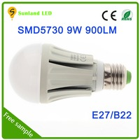 2014 36 months guarantee cool white SMD5730 9w e14 led candle bulb