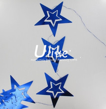 Holiday/party decoration star shape PVC laser garlands party decoration