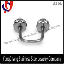 U shape jeweled eyebrow rings stainless steel cone eyebrow jewelry
