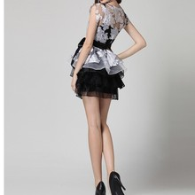 Summer princess floral dress young girls sexy evening dresses young lady party slim bow flower girl tulle dress