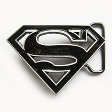 wholesale custom metal black superman belt buckle