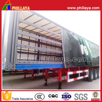 tri-axles heavy duty cargo transportation 30-50tons truck side curtain fabric car curtain for side window