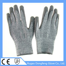 superior performance high modulus Knife Resistant Gloves level 5 working gloves for glass handing