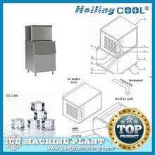 Commerciale cubetti di ghiaccio creatore, ghiaccio che fa macchina, cubo di ghiaccio macchina