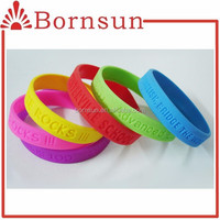All colors tasteless silicone rubber bands bracelets
