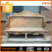 External villa decoration natural marble garden stone granite bench table chair