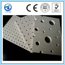 White color perforated gypsum board with square holes, perforated ceiling board,perforated gypsum board