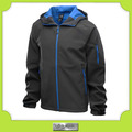 personalizado invierno pesado negro chaquetas con capucha softshell de los hombres