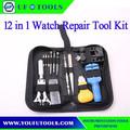 Fabricación 12 unids relojes Remover reparación herramientas primer Set kit, relojes baratos Tool Kit remover, DIY de reparación de relojes Tool Kit