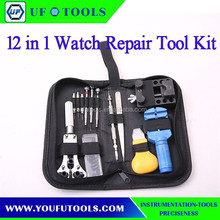 Manufacture 12 pcs Watches Remover Repair Opening Tools Kit Set , Cheap Watches Remover Tool Kit,DIY Repair Watch Tool Kit