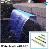 landscape waterfall with LED strip/Outdoor water descent/Swimming pool ornament
