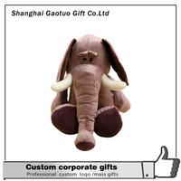 Customized High Quality New Design large plush elephant plushmade in China 2015 New Wholesale Custome