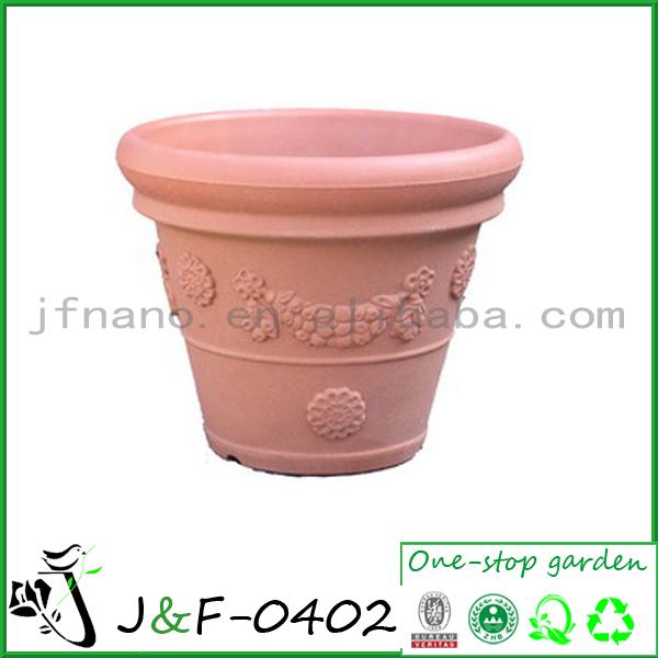 rodada de plástico vasos de plantas pote de sementes
