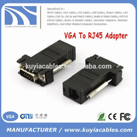 high quality VGA TO RJ45 CAT5 CAT6 Adapter Lan cable Extender Connector