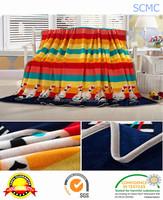 Hot sale luxury soft printed 100 polyester flannel fleece blanket