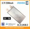 High power output 3.7v 2500mah 35C lipo battery JXE5255105 li-ion battery pack 3.7v,3.7v rechargeable battery,lipo battery