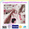 Chinese manufactory lovely heart printing flannel fabric for baby blanket