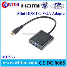 Wholesale 1080P Mini HDMI Male to VGA Female Adapter