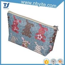 Eco-friendly sky blue color bag cosmetic