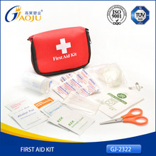 GJ-2322 Hot Selling Professional Nylon Material Small Size travel first aid kit, sport wholesale first aid kits