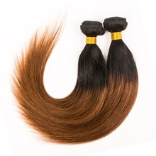 two tone color virgin remy brazilian hair weave 1b 33 27 ombre color hair