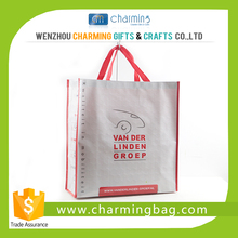 2015 hot sale CMYK printing laminated design handle shopping pp bag