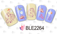 Fashionable Pink pig and bear Water Nail Art Stickers Cartoon Water Nail Art Sticker