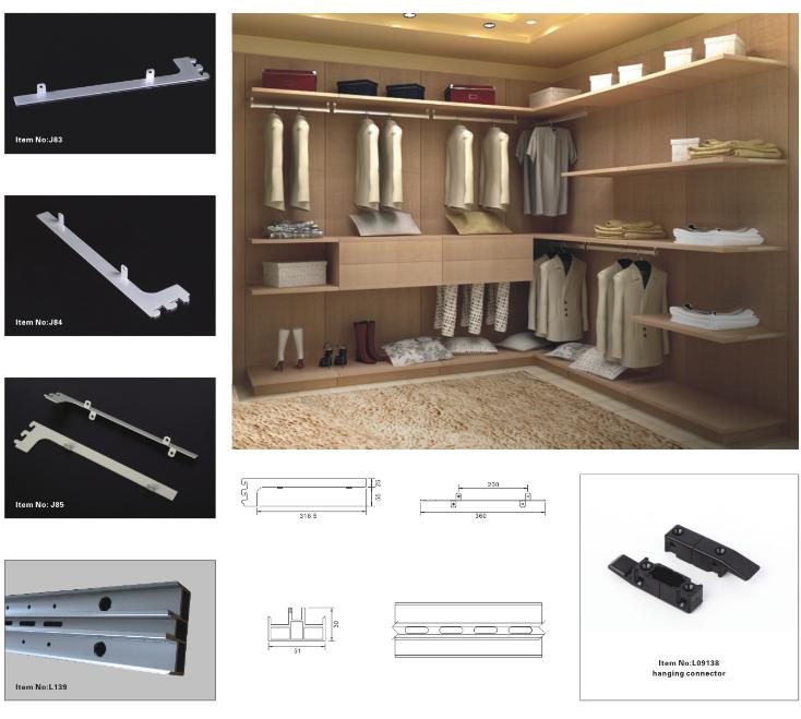 Kitchen Cabinet Tv Cabinet Wordrobe Malaysia: 2017 Hot Sale Modern Built-in Wardrobe Aluminum Closet