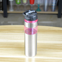new plastic sport bottle with staw