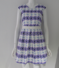 Pretty steps 2015 new summer fashion little V neck classic purple flower dress designs for young girls