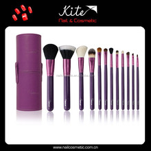 12PCS Cosmetic Makeup Brush Set Pink Pouch Bag