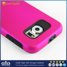 [NP-2218] 2 in 1 PC+TPU Rose Red Phone Case for Samsung for Galaxy S6 G920 Case