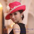 Sombreros de nuevo diseño hechos en paja para señora para Iglesia, de Guanzhou, China.
