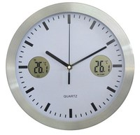 Multifunctional Large Digital Metal Wall Clock for Decoration