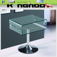 cheap small tempered glass and chromed base corner living room bed tv stand/tv table/tv cabinet