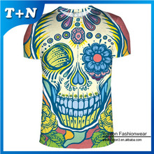 fashion 100% polyester custom sublimation printed 3d animal t-shirts