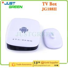 QUAD-Core JGCS188 IR remote control 1 GB 8 GB White google android tv box isdb-t with CE certificate