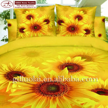 2015 New Eco-friendly 100% cotton 3d sunflower embroidery designs fancy bed sheets