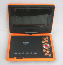 Best selling 7'' portable dvd player with TV/Card slot/AV/FM/Game/USB